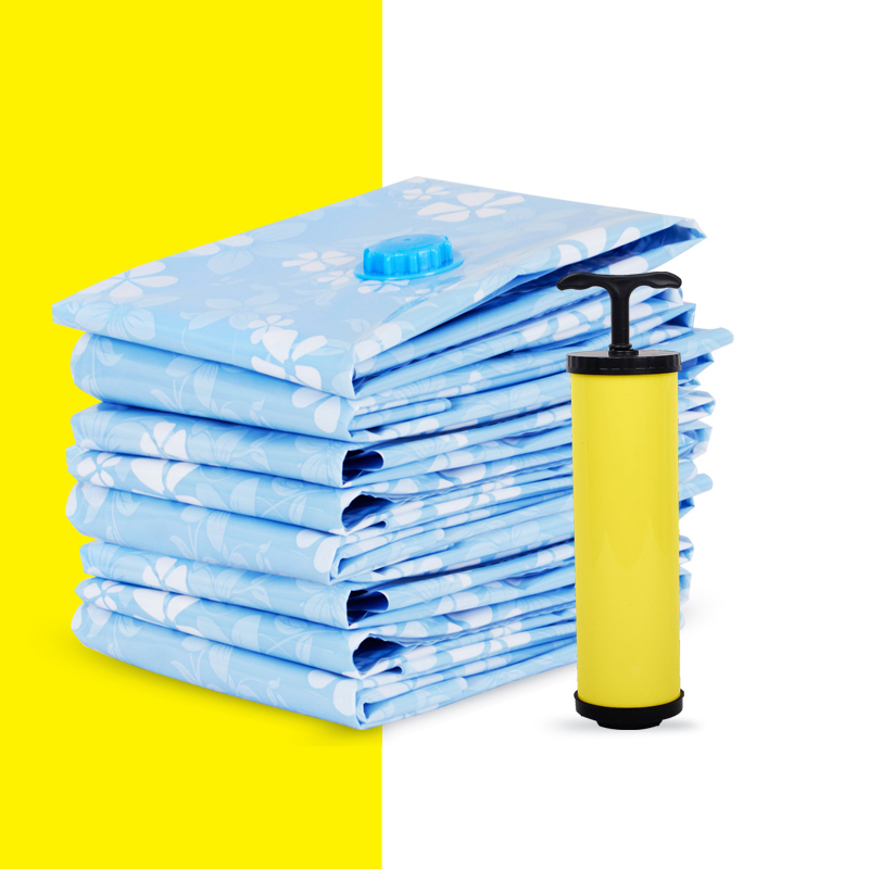 真空压缩袋5只装特大中号棉被子枕头衣物送泵打包整理舞台收纳袋