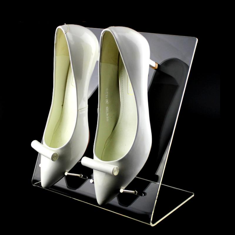 亚克力鞋店双鞋子展示托架高档货架