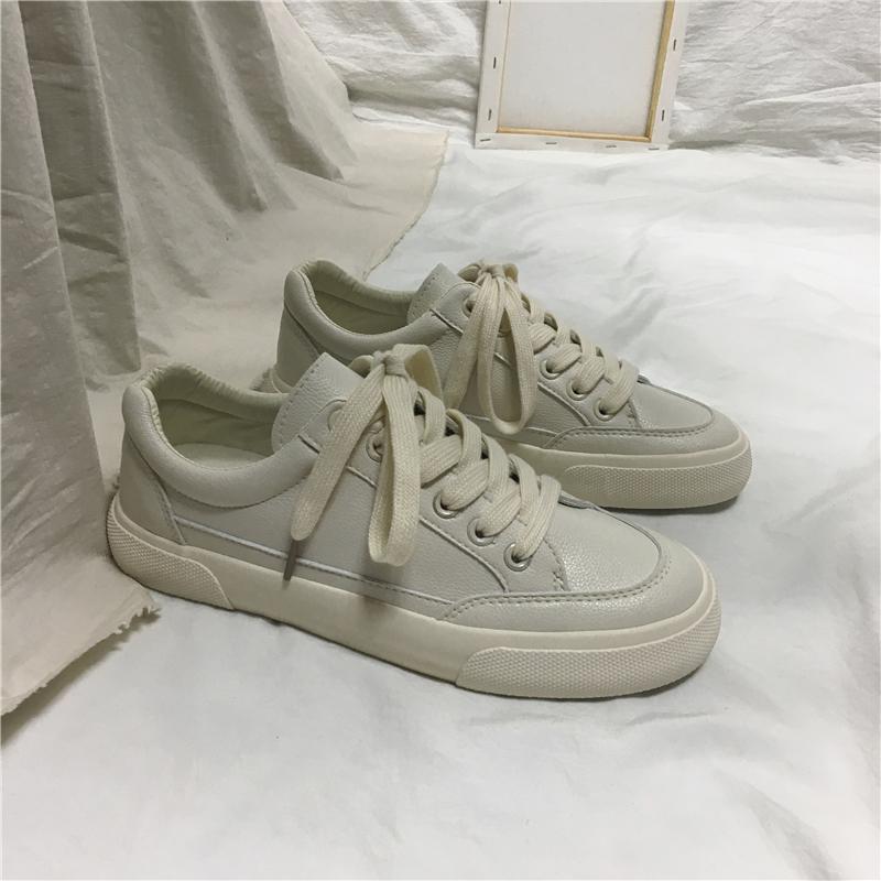 潮鞋春款小白鞋韩版单鞋女鞋子街拍百搭平底白鞋透气板鞋2020ins
