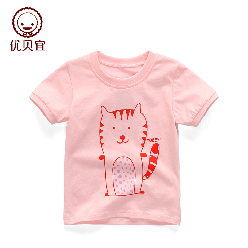 優貝宜 兒童短袖t恤 薄款 寶寶夏裝純棉 女童上衣女孩半袖