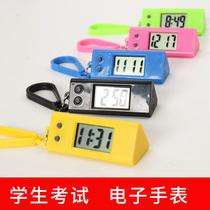 学生考试电子手表男女礼品小挂表创意三角形便携式挂表电子表赠品