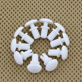 白色尼龙铆钉 塑料铆钉 R形/型PC板 塑胶铆钉 风扇铆钉R2 R2.6 R3图片