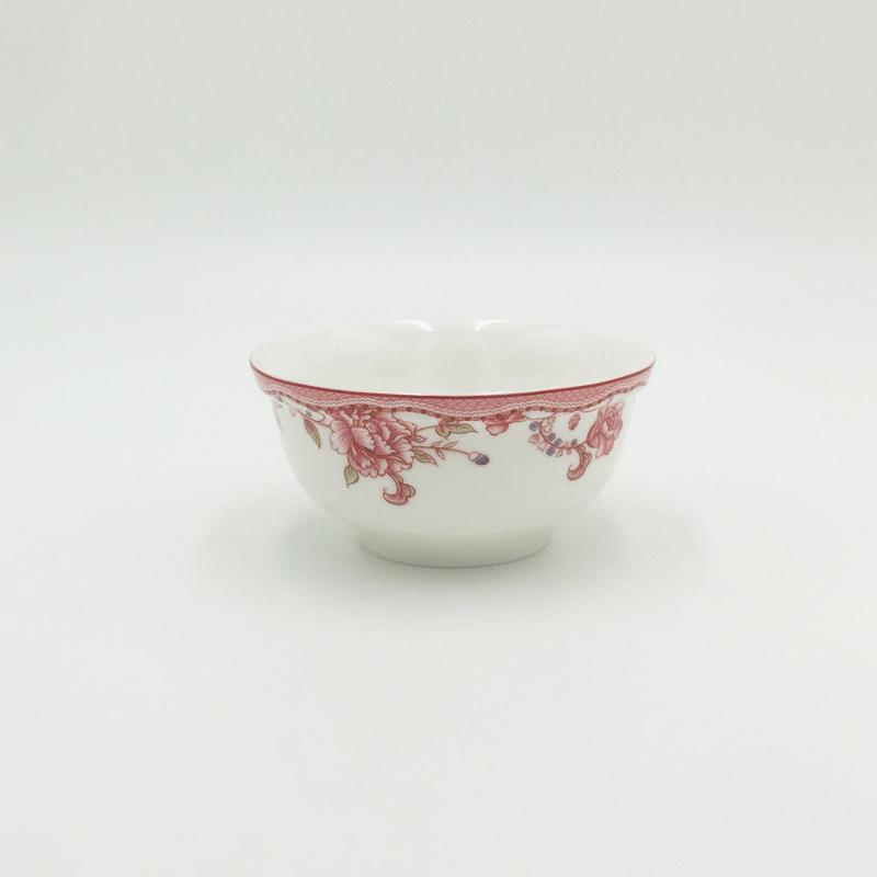 福泰铭 应州正东正品红忆年华陶瓷汤匙饭碗碟釉中彩中式餐具套装