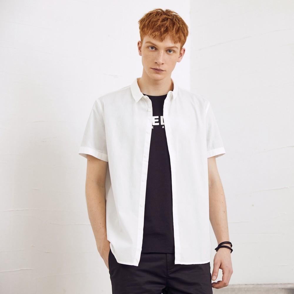 美特斯邦威短袖衬衫