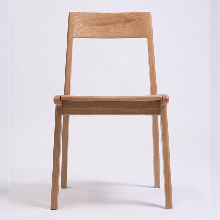 有間築木實木北歐餐椅日式木頭餐桌椅子白黑橡木靠背椅書桌休閑椅
