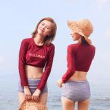 韩国保守型高腰显瘦泳衣