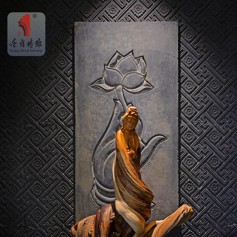 唐语文化石背景墙庭院外墙60水泥砖