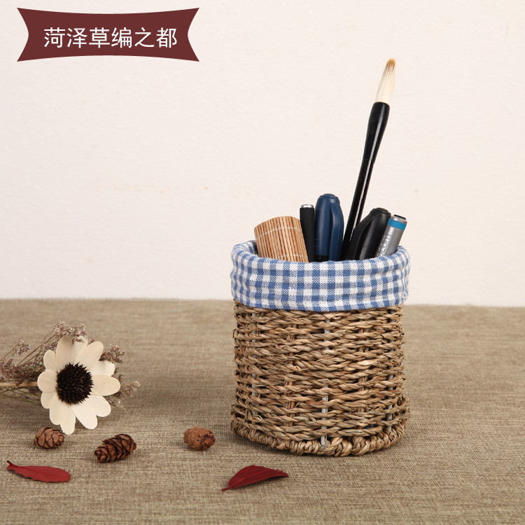 Солома бесплатная доставка офис изучение китайский стиль античный рабочий стол хранение творческий мода депозит ручной кодирования содержится в подкладка пенал