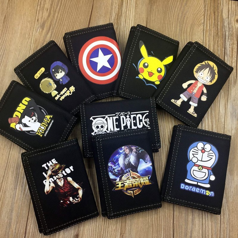 Ultra thin creative trend middle school students wallet childrens coin simple personality cartoon Velcro printing teenagers