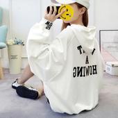 大学生修身 酷 外套秋季 个性 卫衣女春秋薄款 潮嘻哈棉质港味字母时尚