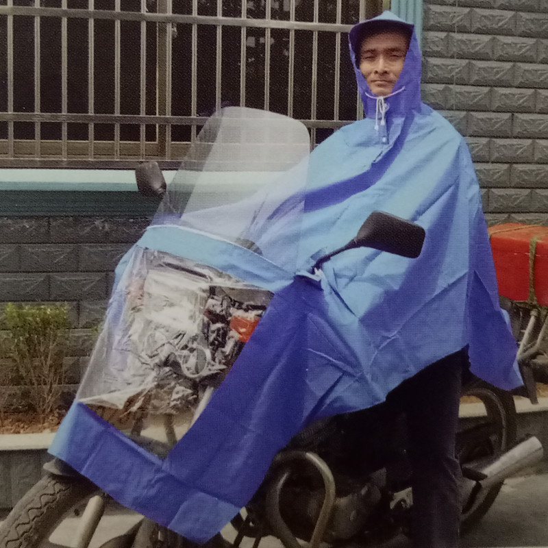 Special price thickened extra large safety luminous motorcycle electric car windshield poncho raincoat 1.3KG