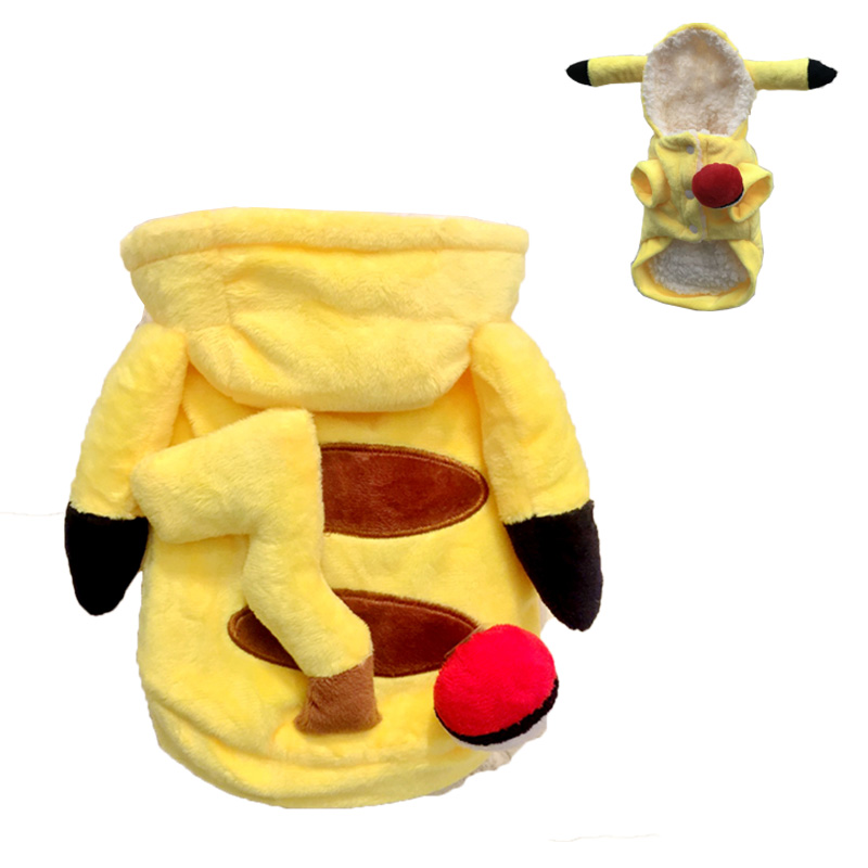 Pet clothes picachu cat and dog changing clothes Teddy Pomeranian cat golden hair small, medium and large dog clothes winter and summer