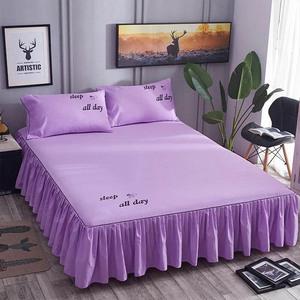 纯棉床裙床罩单件席梦思床垫防尘保护套婚庆床上用品床单床套床笠