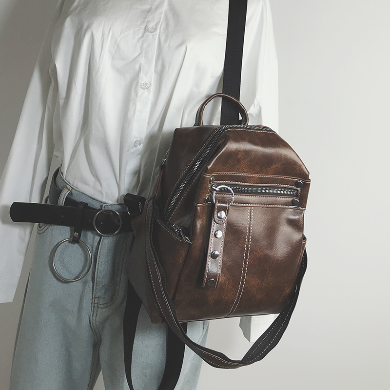 女包2018新款小双肩包女校园百搭学生书包小背包多用旅行小包包潮