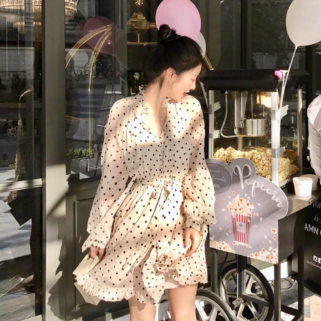 min定制2019新款夏季黑白连衣裙