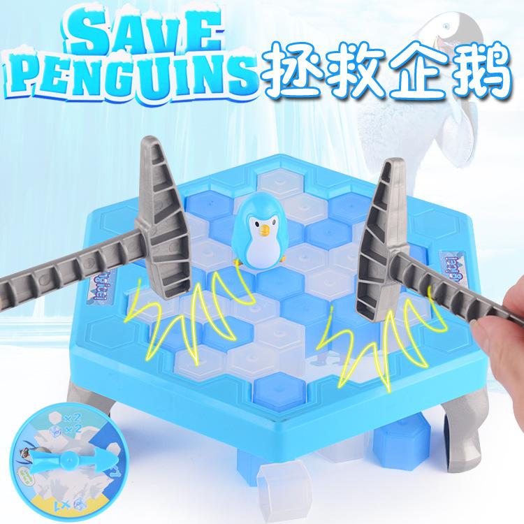 Сохранить сохранить пингвин головоломка отцовство игра стучать борьба перерыв лед пингвин стучать лед блок игрушка ребенок день рождения подарок подарок