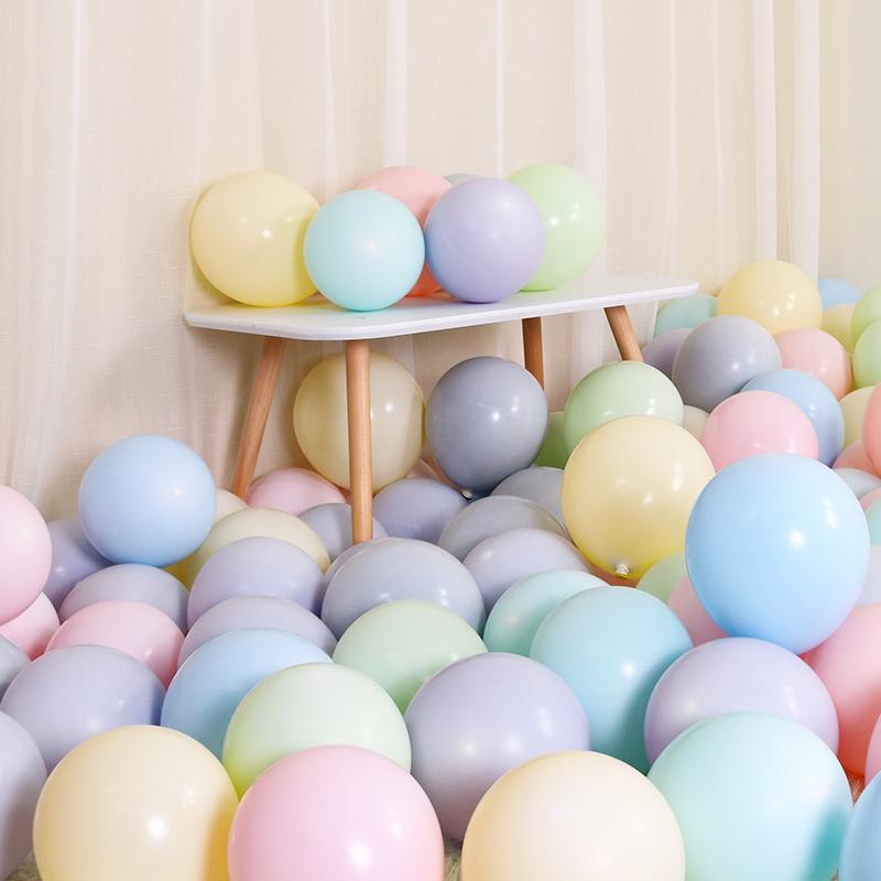 气球儿童生日创意婚礼结婚房布置用品派对装饰马卡龙色加厚哑光