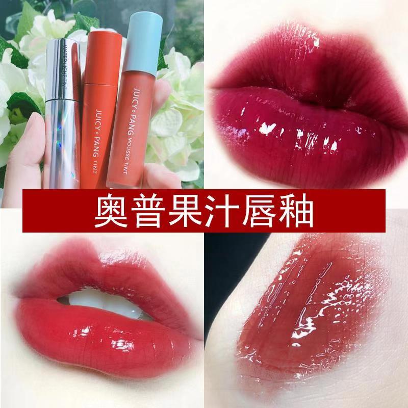 韩国APIEU奥普果汁唇釉RD03 JUICY PANG玻璃唇彩口红CR03烂番茄图片