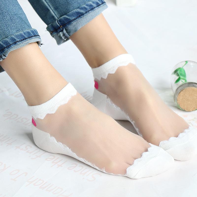 满29元可用5元优惠券5双装春夏棉底水晶隐形韩国丝袜
