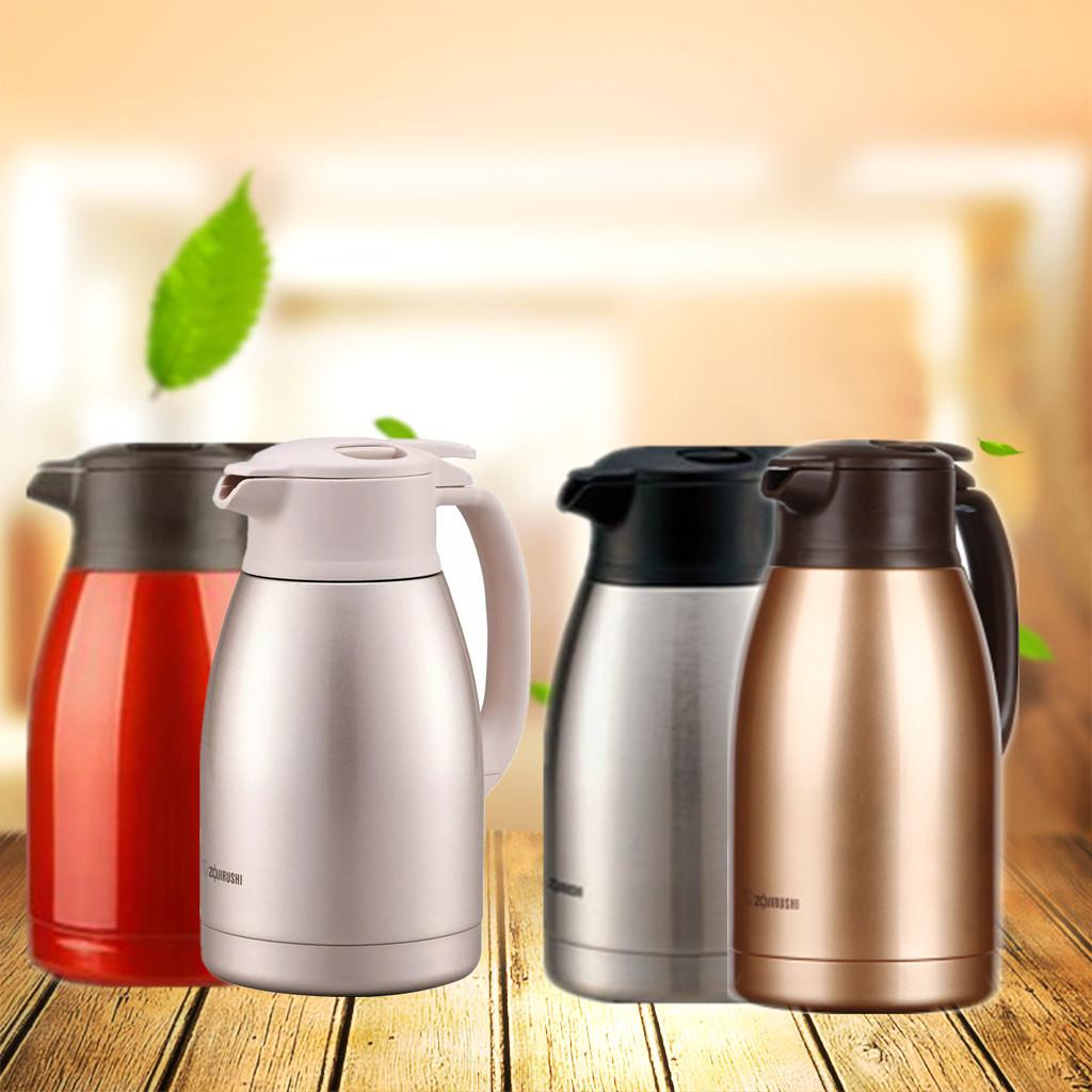 日本象印不锈钢保温壶SH-HA15C大容量暖水瓶办公家用热水壶1.5L