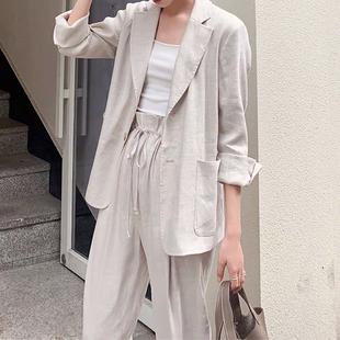 【MALI616 10:00】帥氣小姐姐的夏日穿搭~透氣的亞麻西裝3件套