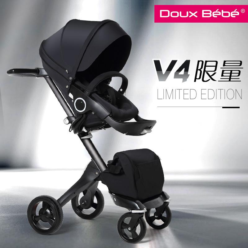 Великобритания импорт марка Doux bebe высокий пейзаж ребенок тележки может сидеть можно лечь сложить двусторонний превышать STOKKE