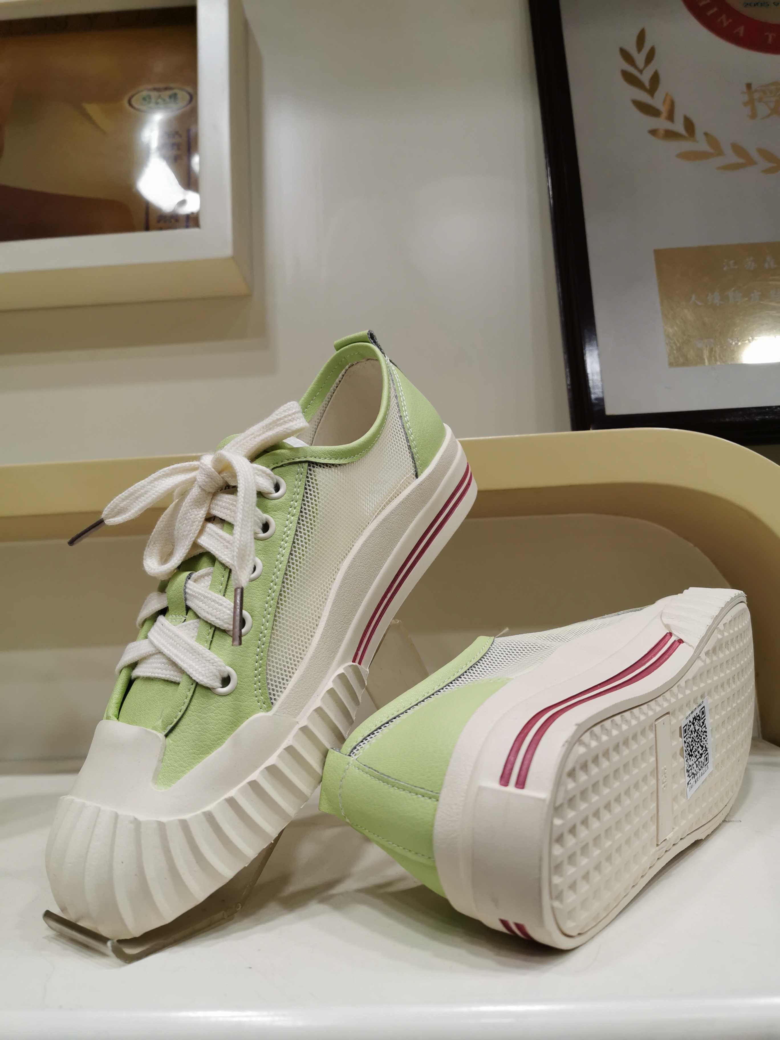 专柜正品2020新款森达皮鞋好人缘女鞋休闲鞋凉鞋PMA11