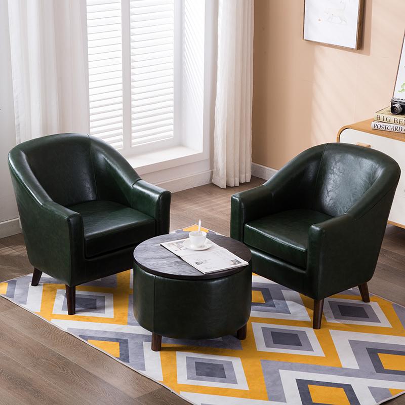 手慢无北欧简约现代布艺单双人沙发懒人小户型网红款新中式卧室客厅组合