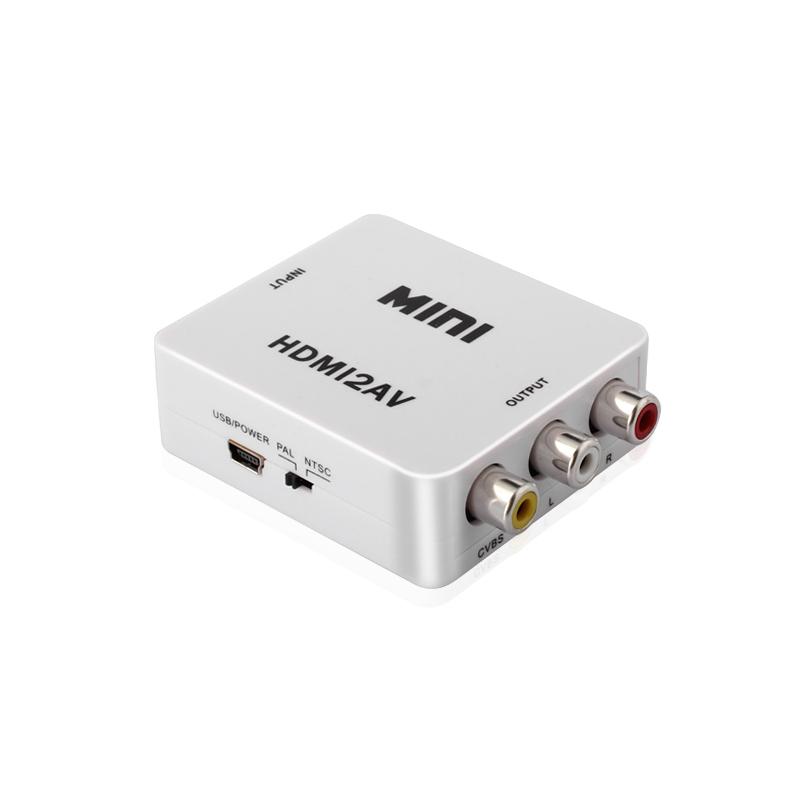 鑫魔王 HDMI轉AV線轉換器 高清數字轉模擬 盒子視頻紅黃白老電視
