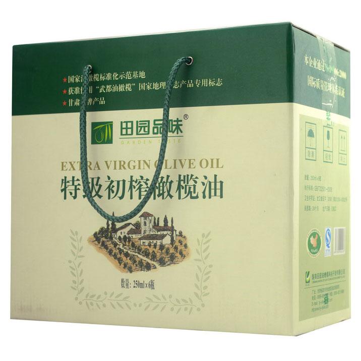 Pastoral taste green extra virgin olive oil, Longnan Wudu specialty 250ml * 6 full box International Gold Award