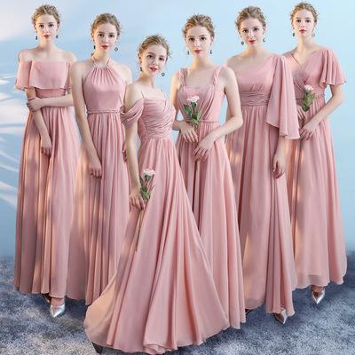 伴娘裙子女2020新款夏季显瘦长款伴娘服礼服韩版闺蜜装婚礼姐妹裙