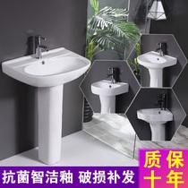 新款艺术立柱盆立式台盆一体卫生间落地式立盆洗手盆柱式洗脸盆