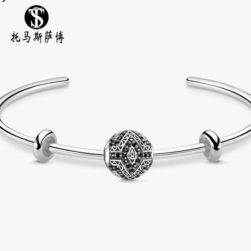 Bracelet beads and positioning ring fashion national style 925 pure silver simple classic personality accessories Thomas Saab
