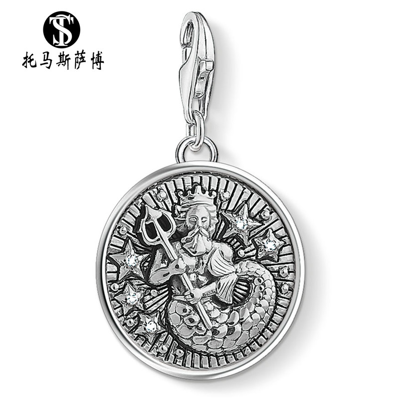 Constellation series Thai silver Aquarius Pendant Fashion versatile personality pendant lobster buckle accessories Thomas Saab