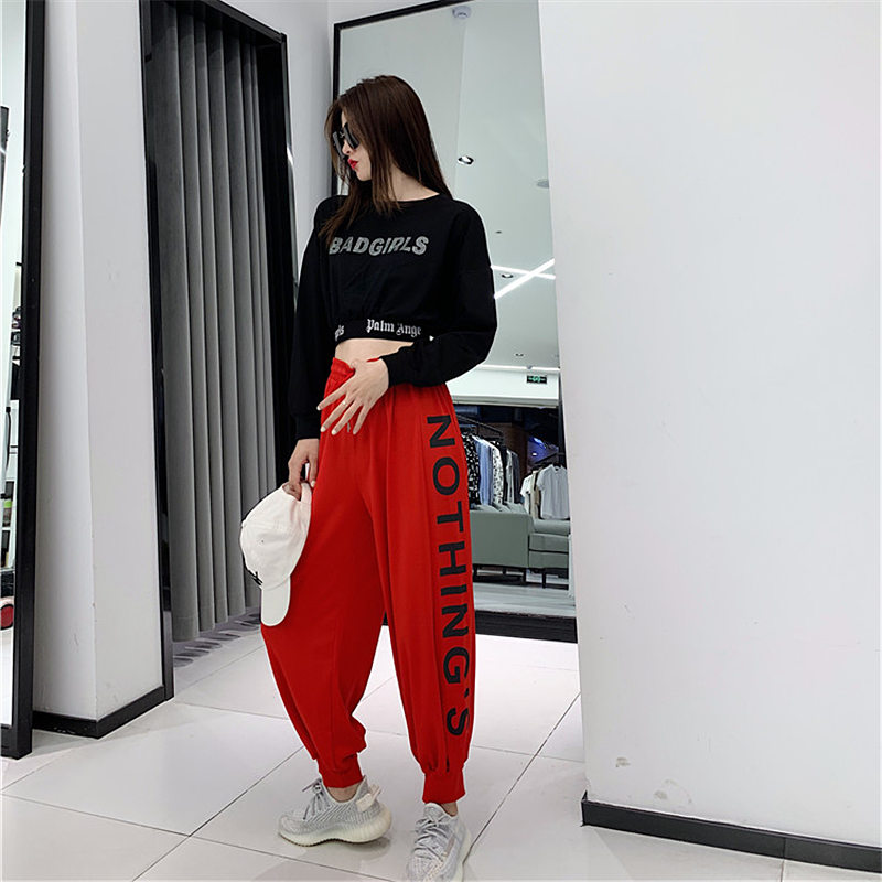 1m dance room same casual pants childrens early spring 2020 loose hip hop bunches DS dance jazz dance pants