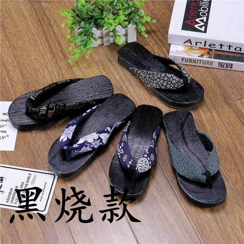 日式松木板人字拖 男 夏季潮流创意个性拖鞋 cos夹板木屐凉拖木履