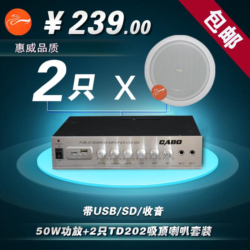 惠威TD202 升级版 吸顶喇叭 6.5寸喇叭 校园广播消防工程专用喇叭