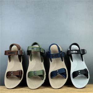 夏日清爽沙滩鞋韩版风时尚休闲男鞋减震户外旅游凉鞋外贸孤品鞋子