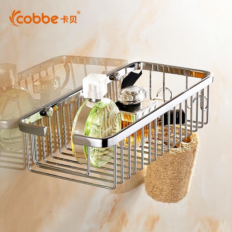 卡貝衛浴不鏽鋼掛件衛生間置物架層架壁掛浴室轉角架廁所方形網籃