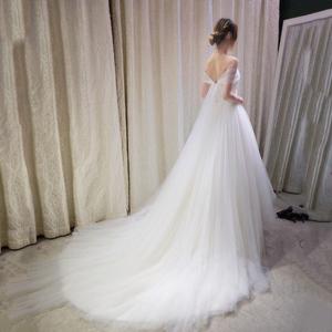 婚纱礼服2016新款新娘结婚一字肩齐地婚纱拖尾韩版抹胸婚纱显瘦