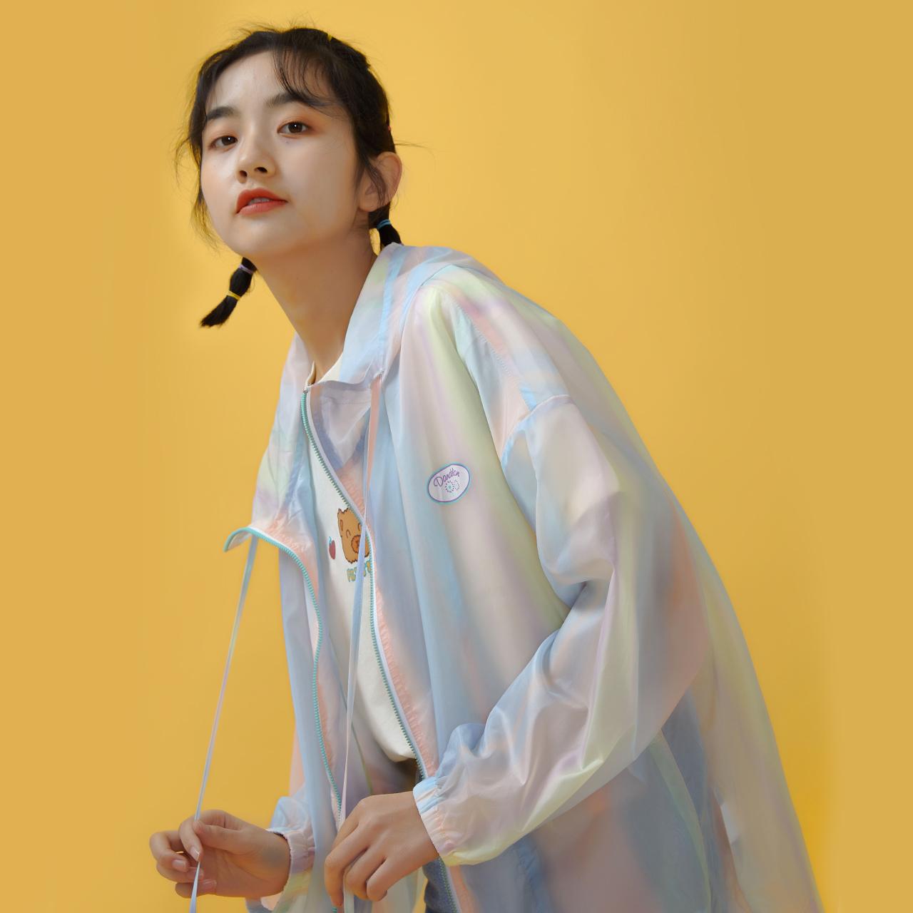 尔给日系古着炸街外套女薄款2020新款潮学生防晒衫韩版宽松图片