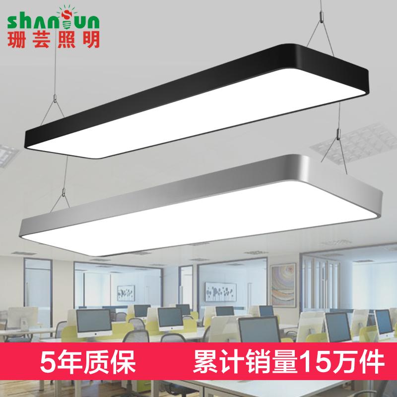 珊芸圆角LED办公室吊灯 长条形吊线灯工业风服装店铺商业工程灯具