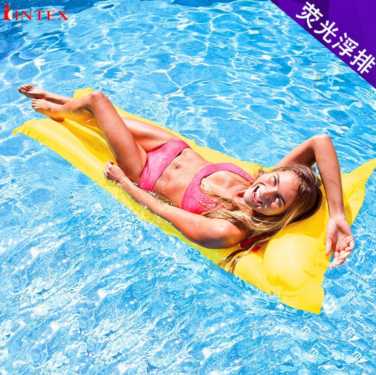 Сша подлинный intex59703 флуоресценция плавающий водный газированный плавающий для взрослых газированный поплавок кровать дополнительно три цвета