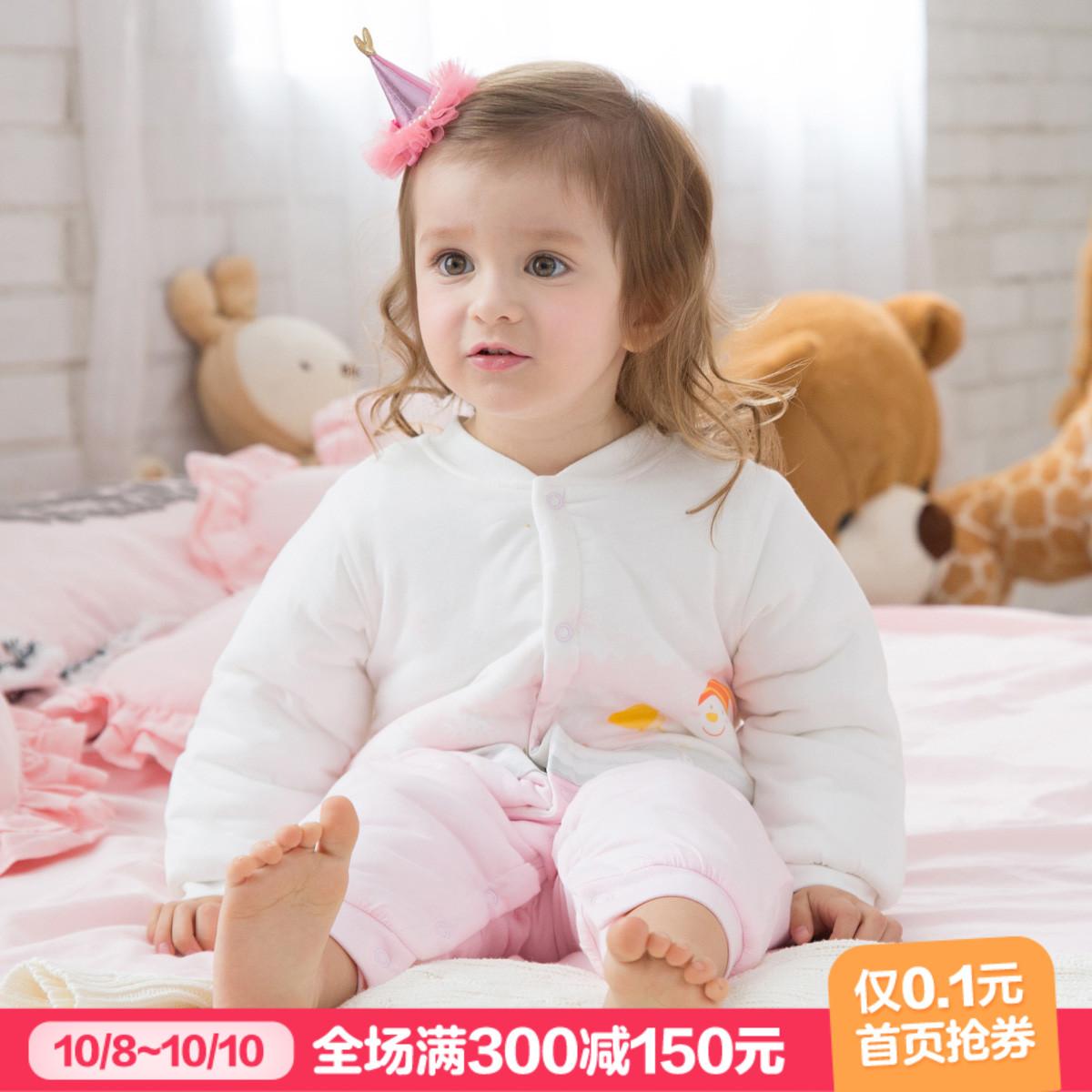 10-25新券皮偌乔秋冬装婴儿衣服女宝宝哈衣