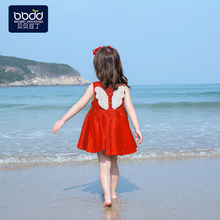 Girls Summer Dress 2009 New Korean Children's Skirt Fashionable Super Occidental Red Little Girl Princess Skirt