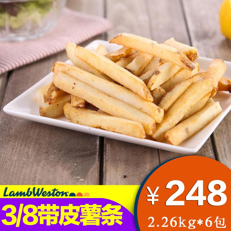 进口美国蓝威斯顿S1900带皮直薯粗薯条休闲油炸小吃冷冻半成品S19
