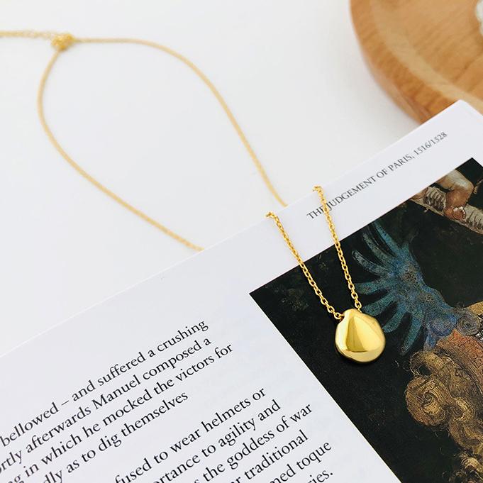 2020新品韩版个性925纯银异形吊坠套链几何金属设计款ins项链饰品