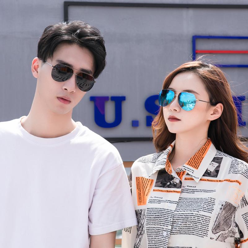2020 new Polarized Sunglasses mens Sunglasses nylon color film reflective toad mirror mens and womens Sunglasses