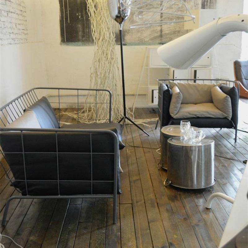Одежда магазин спинка диван стул промышленность ветер диван сочетание loft моно,парный человек простой современный офис диван железо