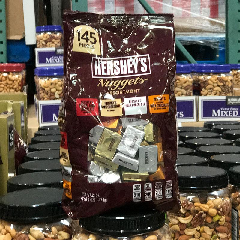 美国代购HERSHEYS好时混合口味金银砖迷你夹心牛奶巧克力糖1470g